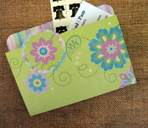 Refrigerator Folder Magnet in Bright Green for Recipes, Coupons and Photos
