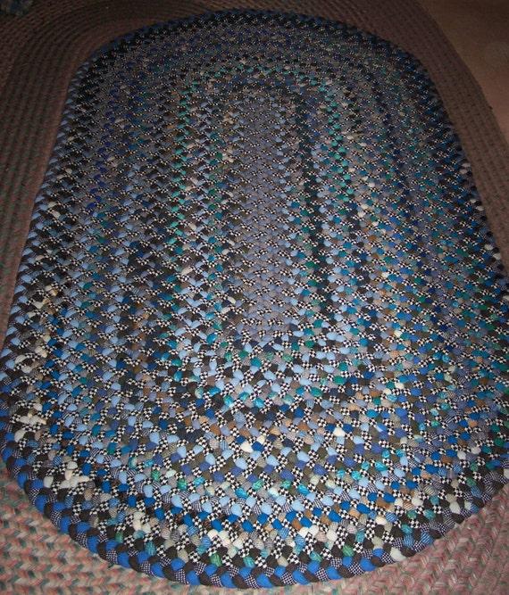 New Hand/ Handmade Wool Oval Braided Rug 3'x5'