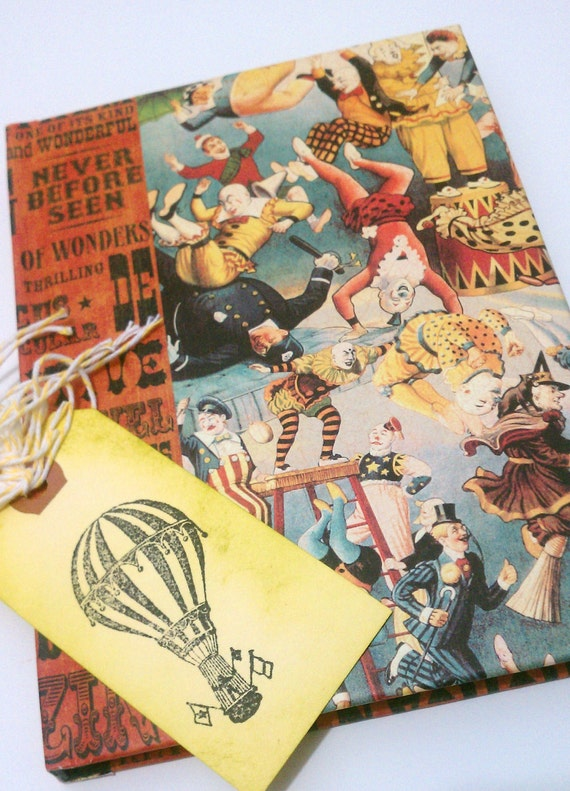 Circus Journal Hard Cover with Tag