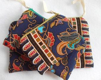 SEWING PATTERN coin case pencil glasses case passport purse ,Zipper Pouch Trio, Utility Pouch, 3 sizes