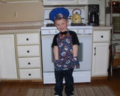 Ready to Ship Thomas the Train Toddler Full Apron & Chef's Hat Set