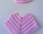 Girls Poncho and Hat CROCHET PATTERN 1 to 5 years - INSTANT Download