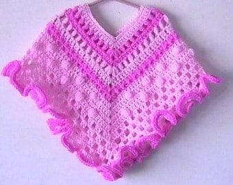 Spring Fantasy Girls Poncho CROCHET PATTERN