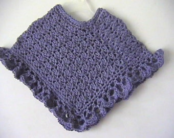 Purple Mist Girls Poncho CROCHET PATTERN - INSTANT Download