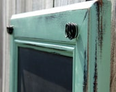 Design Your Chalkboard / Large 17 x 22 Rustic Framed Chalkboard with Hooks Made to Your Specifications- Vintage Style - 03