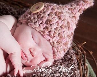 Crochet Pattern, Pixie Hat Size Newborn Reborn, PDF Pattern No 29,  Permission to sell finished Items