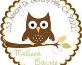 Hoot Hoot Owl  Personalized Stickers - Baby Shower, Favor Labels, Party Favor, Address Labels, Birthday Stickers - Choice of Size