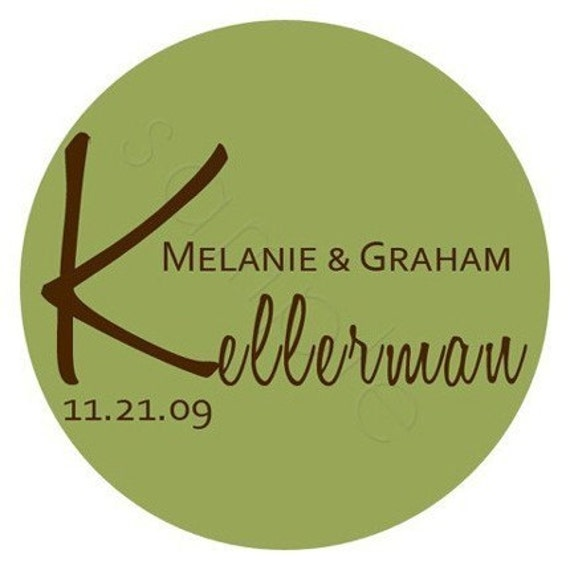 Wedding Stickers - Simple and Chic Personalized Stickers, Wedding Favor Labels, Envelope Seals, Wedding - Choice of Size