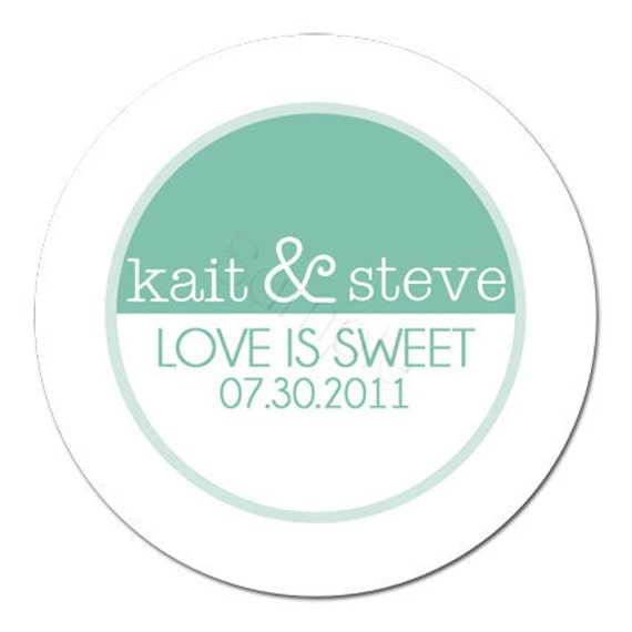 Custom Wedding Stickers - Sleek and Chic Wedding Stickers, Wedding Favor Stickers, Personalized Stickers - Choice of Size