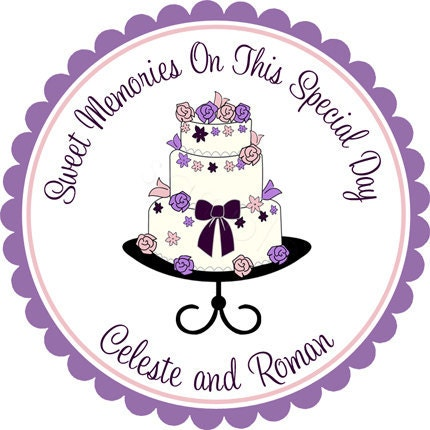 wedding cake bag stickers personalized tiered beautiful wedding cake stickers 21785