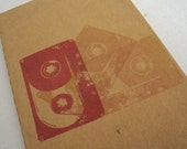 Cassette Tape pocket moleskine, journal 80's mix tape notebook music gift