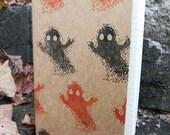 8 Bit Ghost large moleskine, pixel halloween notebook