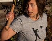 Zombie Love t-shirt geek shirt women's XL American Apparel