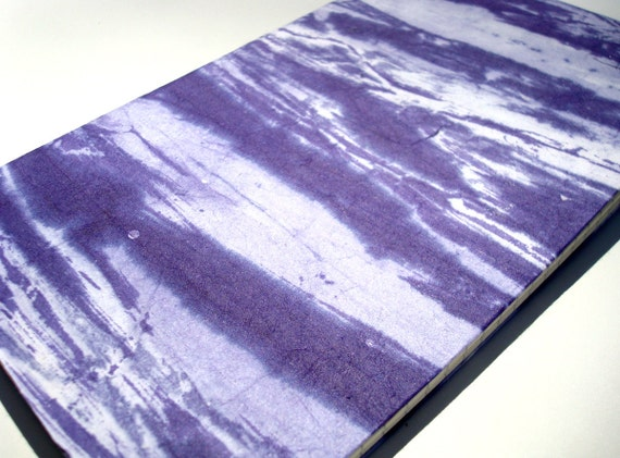 Purple Waves large journal (lined) writer's notebook