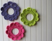 Decorative Crochet Wreath Wall Hangings & Picture Frames Birthday Party Mix