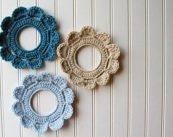 Decorative Crochet Wreath Wall Hangings & Picture Frames Beach Ocean