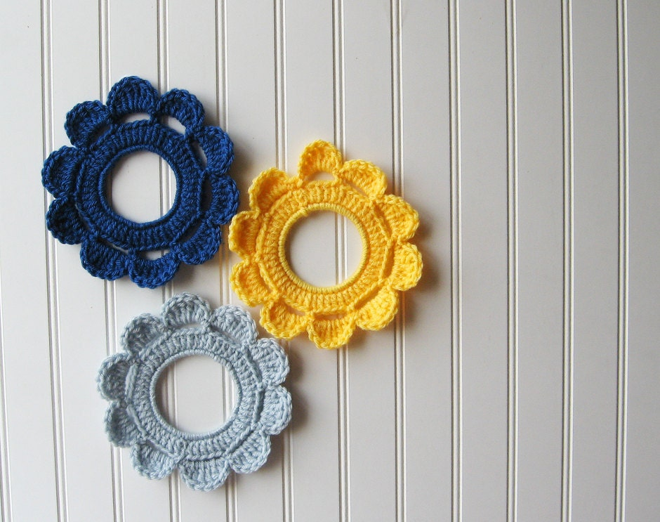 Decorative Crochet : Decorative Crochet Wreath Wall Hangings & by Butterflyalley