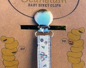 Robots Binky/Pacifier Clip or Toy Leash