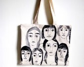 Hand Painted Girls Tote