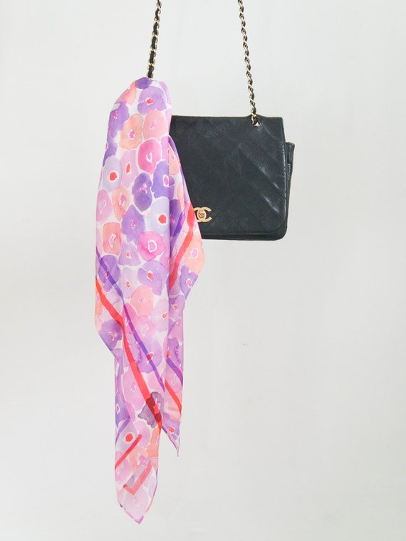 RESERVED - Floral Silk Scarf for Jessica