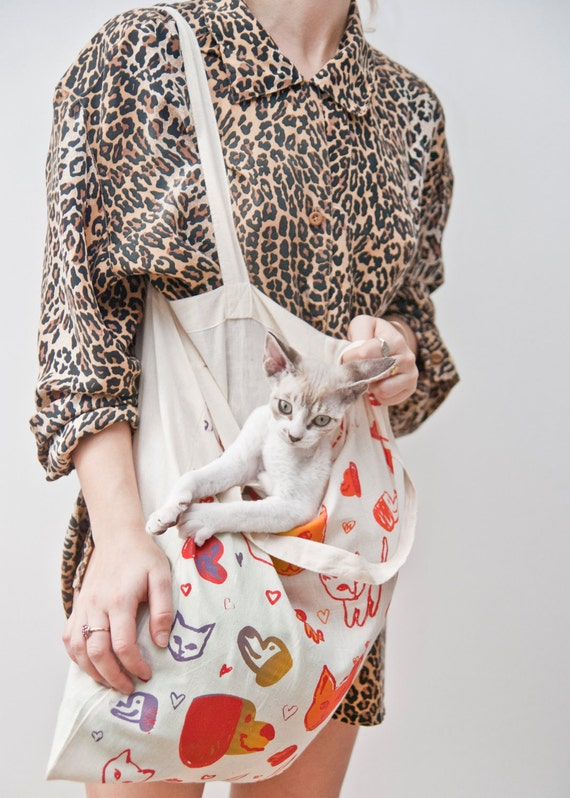 Puppy Kitty Love Tote