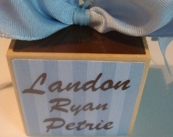Personalized Wooden Baby Ornament