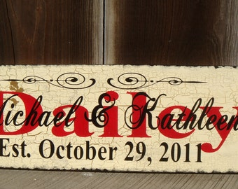 Personalized Wedding Sign Hand Painted