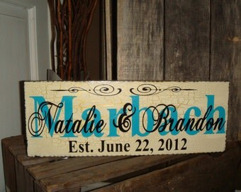 Personalized Wedding Sign Hand Painted New Sizing available