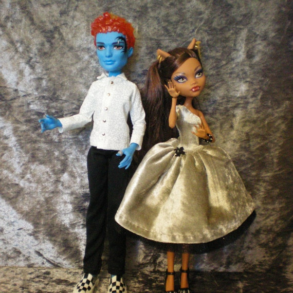 Semi-formal outfit set for monster high dolls