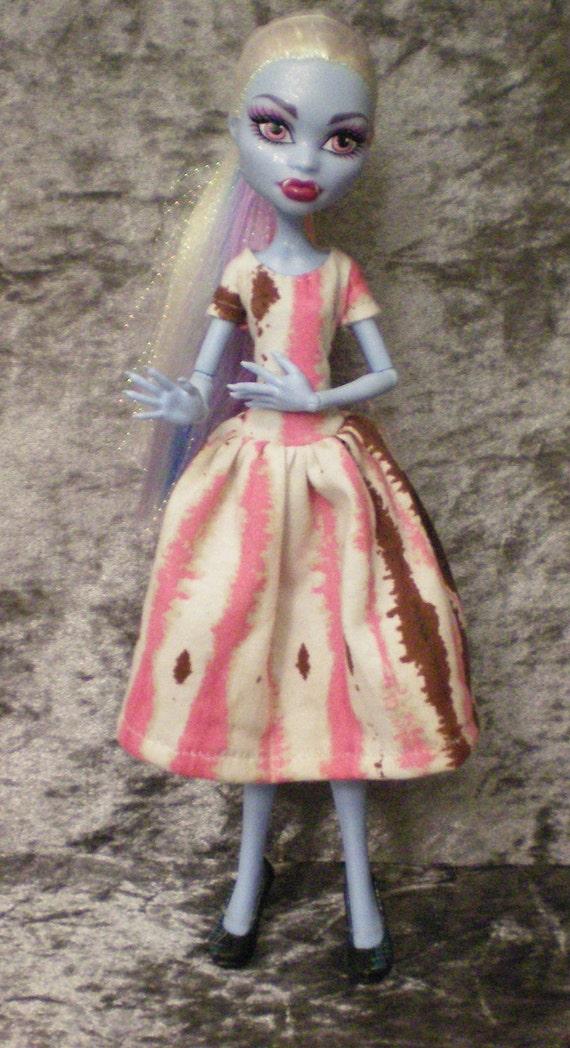 Short sleeved dress for monster high dolls