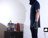 SALE - DARIUM - Rapture Hood - Black Hoodie T-shirt -  s , m,  l , xl