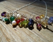Wire Wrapped Birthstone Bead- add an extra gemstone to your personalized Root to Sky necklace