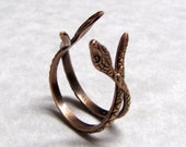 Double Crossed Snake Ring Band