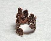Forest Oak Leaf Ring