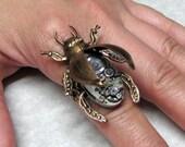 Steampunk Horned Beetle