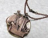 Pirate Ship Nautical Locket