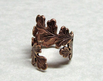 Forest Oak Leaf Ring