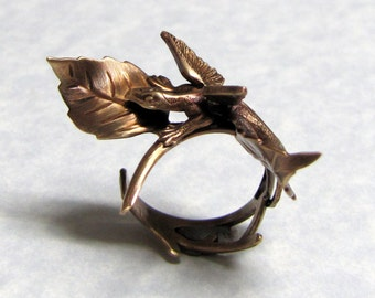 Fairy Tale Dragon Leaf Ring