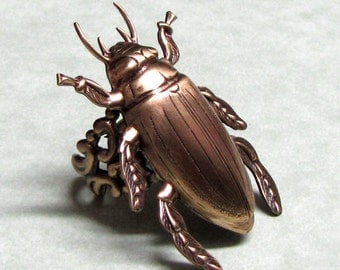 Horn Beetle Ring Band