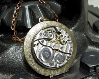 Steampunk Locket Necklace Pendant ( LSL2 )