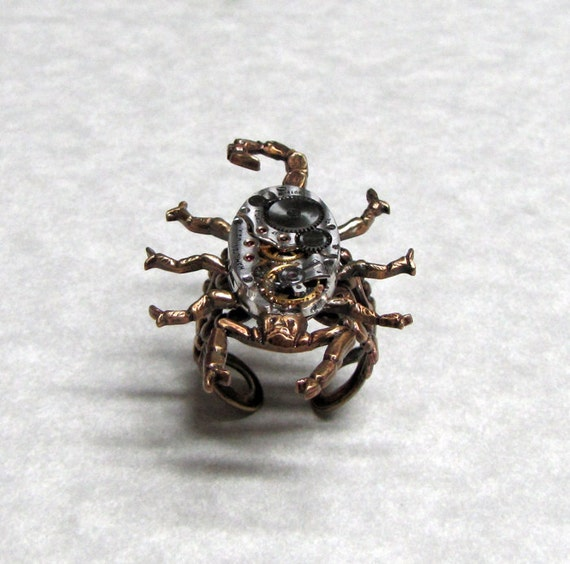 Steampunk Scorpion Ring reserved for pharoah702