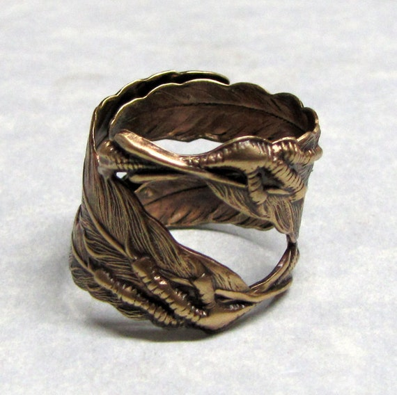 Raven Claw and Feather Ring