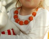 So Orange comfort necklace for girls all natural