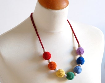 Nordic Rainbow Nursing / Teething necklace