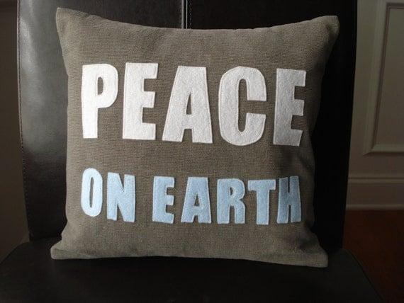 Peace on Earth Christmas Decor Pillow