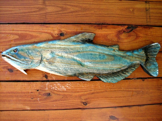 Blue catfish chainsaw wood carving freshwater by