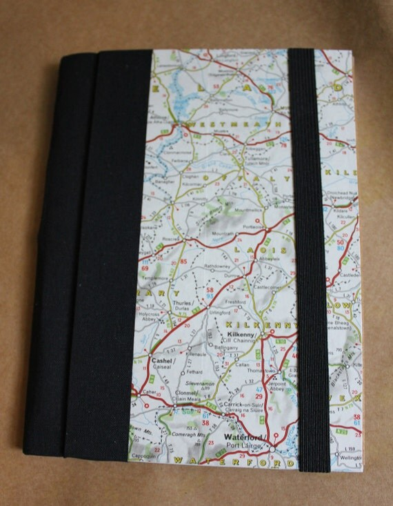 Recycled Map Journal - Ireland