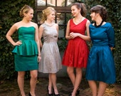 Special Occasion or Bridesmaid Dress with Sleeves - Made to Order in any Color