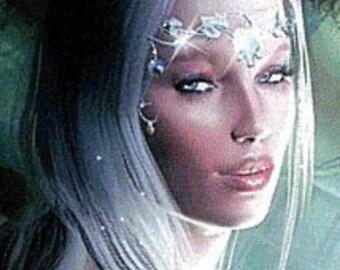 Perfume SOLID - Silver Sensuality Elf Elven fragrance - Jasmine, Rose, Lilac, Plumeria, .15oz Stick tube