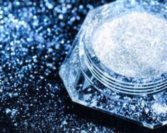 Dramatic Mirage Faery Dust Powder - Ice Blue - mica fairy dust for fairies body powder eye shadow pigment crafts - 3 gram jar packed
